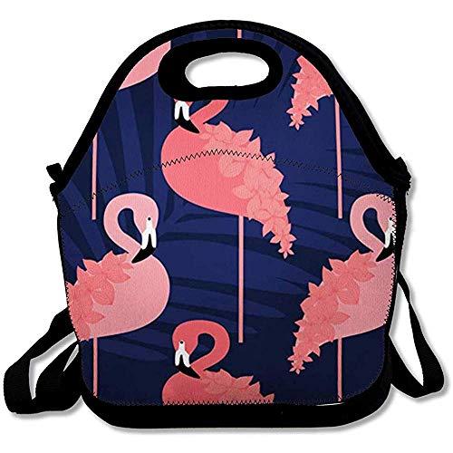 Koeltas, strandtas voor volwassenen, geïsoleerd, flamingo-stijl, roze in Boho Bird blouse design, tilee, herbruikbare lunchbox voor kantoor