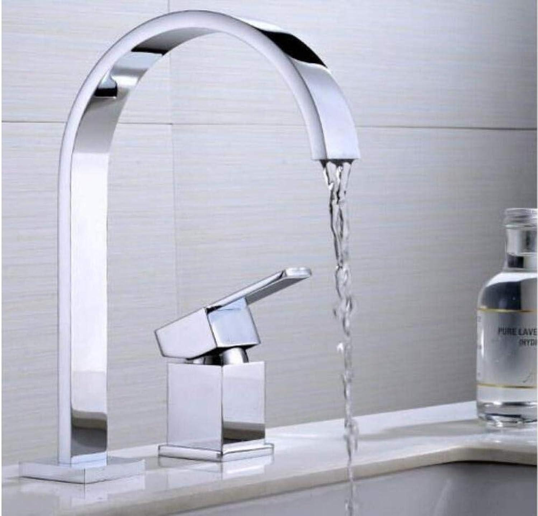 Retro Wasserhahn zweiteilige groe geschwungene Becken Küche Single-Connected Double-Hole Hot And Cold Faucet