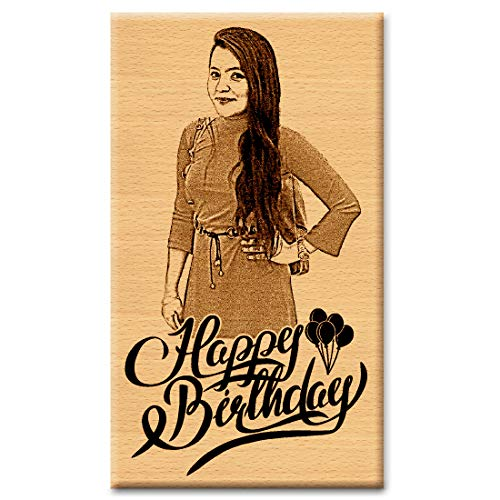 Incredible Gifts India Personalized Wooden Birthday Gift for Girlfriend (6 X 4 Inch)