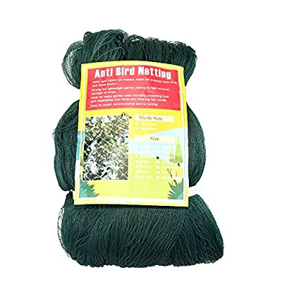 Anti Bird Netting For Garden Woven Mesh - Heavy Duty Protect Plants and Fruit Trees from Rodents Birds Deer Poultry Doesn't Tangle and Reusable 19.5wx40l(Ft)
