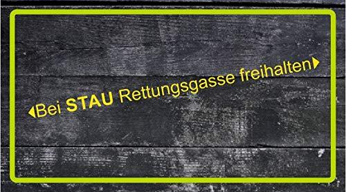 Dinger-Design Aufkleber Bei Stau Rettungsgasse freihalten Feuerwehr, DRK, Polizei, THW (60 x 4 cm)
