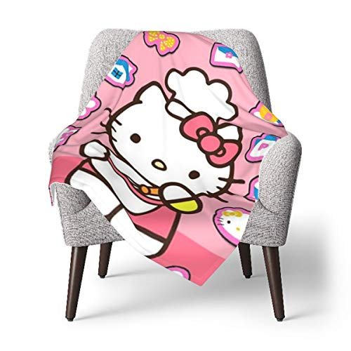 Best Cute Hello Kitty Baby Blanket Or Fluffy Blanket for Kids Unisex Throw Blanket for Crib Couch Chair Living Room Travel Super Soft Warm Kids Blanket-One Size