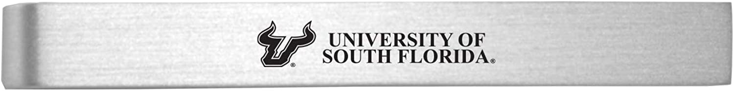 University of South Florida-Brushed Clip-Silver Tie Gorgeous Fashion Metal
