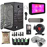 Gardeners Corner LED Hydroponics Complete Grow Room Tent Kit With Fox Filter Kit - Fabric Pots - Canna Coco -...