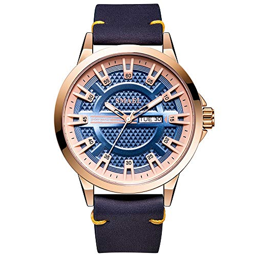 Check Out This Muranba Watches Fashion Creative Geometric Round Belt Men's Quartz Watch Gift