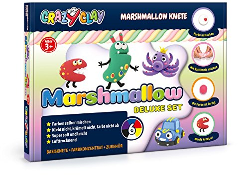 CrazyClay Marshmallow Sets (Deluxe-Set) - Super Soft - leicht zu kneten