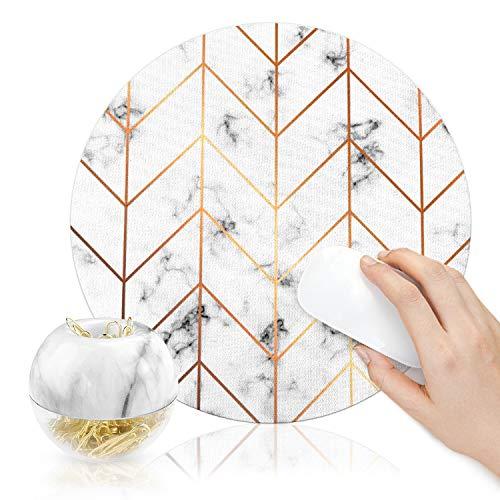100 clips de papel dorados en dispensadores de mármol blanco magnético para papel de 28 mm, almohadilla redonda para ratón,...