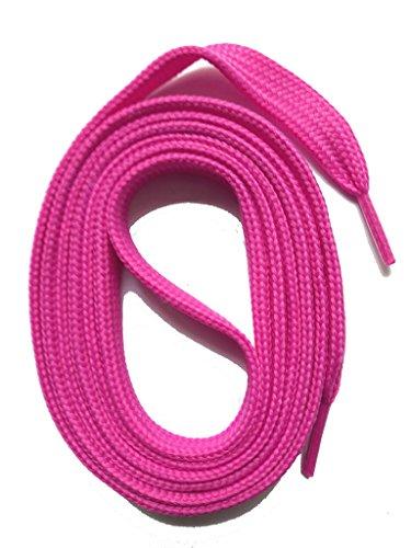 SNORS flache Schnürsenkel PINK 100cm, 11-12mm breit, reißfest, Polyester, Made in Germany für Sportschuhe Sneaker Turnschuhe und...
