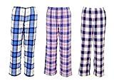B STORIES Women's Cotton 3 Pack Woven Lounge Pants (Assorted Pyjamas) (Medium)