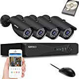SANSCO 8CH Expandable 5MP POE Home Security Camera...