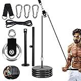 Jecxep Forearm - Polea para entrenamiento de muñeca, sistema de polea resistente, fuerza muscular, equipo de fitness para antebrazo, polea de cable, extensiones de cable para equipo de fitness