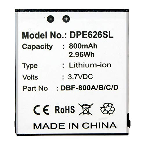 Replacement Battery DBF-800B for Consumer Cellular Doro Phone Easy 626 Flip Phone Battery