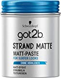 Schwarzkopf got2b Strandmatte Haarstyling Paste Surfer-Look, 1er Pack (1 x 100ml)