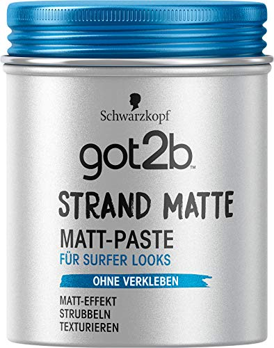 Schwarzkopf got2b Paste Strand Matte Matt-Paste surfer look, 1er Pack (1 x 100 ml)