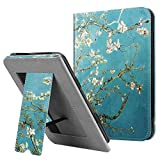 Fintie Stand Case for All-New Nook Glowlight Plus 7.8 Inch 2019 Release, Folio Premium PU Leather Protective Cover with Card Slot and Hand Strap (Not Fit Previous Gen 6 Inch 2015), Blossom