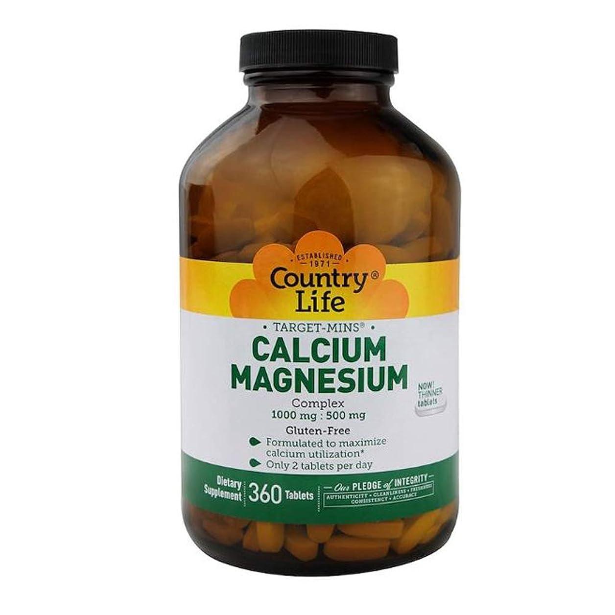 不十分熱帯のサラミCountry Life ターゲット ミネラル カルシウム マグネシウム 複合体 360錠 【アメリカ直送】