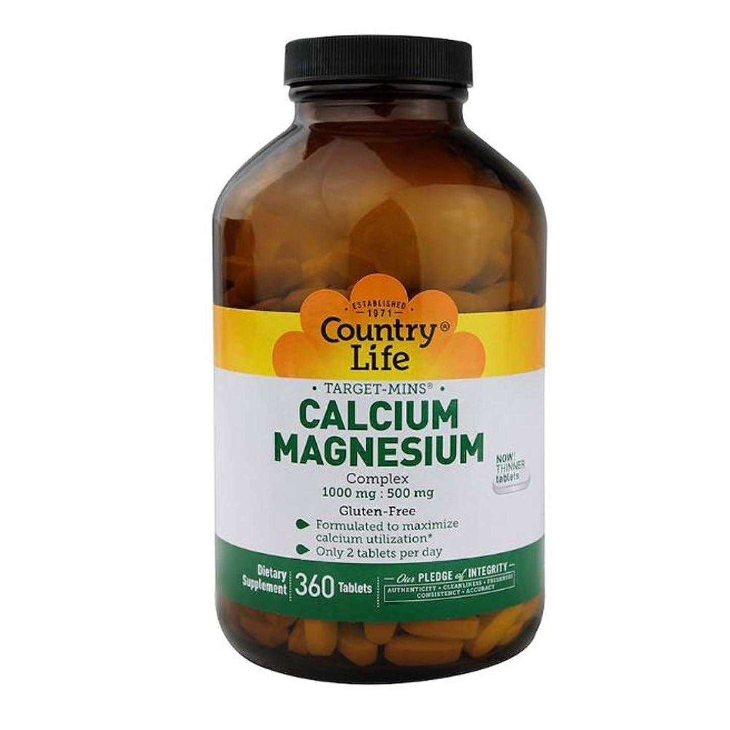 実質的に吸収剤セラーCountry Life ターゲット ミネラル カルシウム マグネシウム 複合体 360錠 【アメリカ直送】