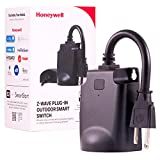 Honeywell 39363-CS2 UltraPro Z-Wave Plus Outdoor Plug-in Switch, Weather-Resistant, 1 Grounded Outlet, 39363, 1 Pack, Black