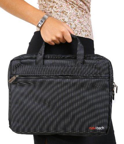Navitech Schwarze Wasserwiederständige Premium Schocksichere 13,1 Zoll Laptop / Notebook Trage Tasche für das TOSHIBASatellite U940-10P, Satellite U840W-10J 14.4
