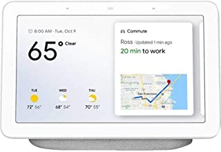 Google Home Hub GA00516-US With Google Assistant Smart 7 Inch Display - Chalk Grey (Pack of 1)