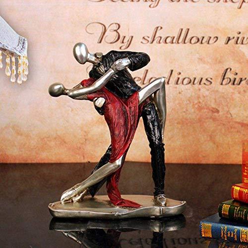 WQQLQX Statue Tierwandskulptur, Tango-Tänzer Statue, Zwei leidenschaftliche Künstler, Handwerk Film und Handwerk dekorative Geschenke Tierwandskulptur Skulpturen (Color : 18x7.5x22 cm)