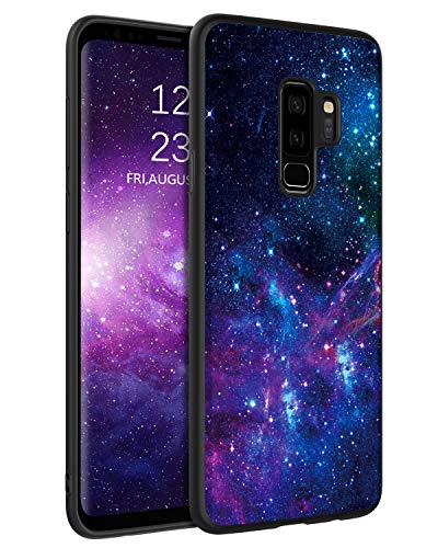 "BENTOBEN Samsung Galaxy S9 Plus Case, Slim Fit Glow in The Dark Soft Flexible Bumper Protective Shockproof Anti Scratch Non-Slip Cute Case Cover for Samsung Galaxy S9+ Plus 6.2"" (2018), Nebula/Galaxy"