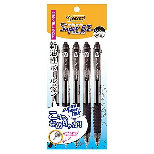 『ビック 油性ボールペン スーパーEZノック 0.5 黒 5本 SEZRT05BLK5P』の1枚目の画像