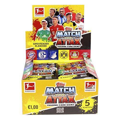 Topps Match Attax - Bundesliga - 50 X 5er Booster = 250 Sammelkarten - Saision 2018-2019