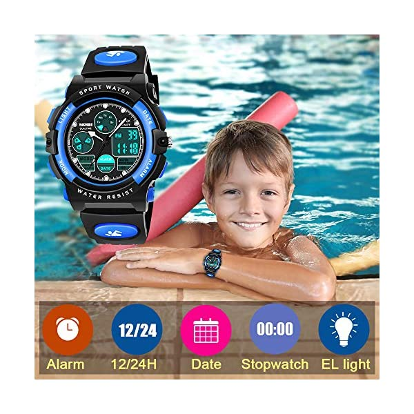 SOKY LED Waterproof Digital Sport Watches for Kids – Best Gift