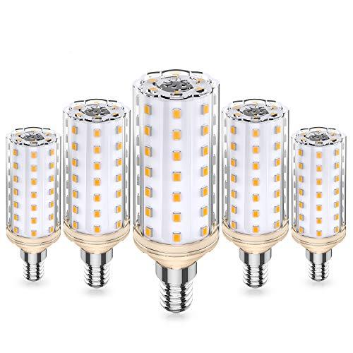 Eco.Luma 10W E14 LED Lampen, Ersetzt 100W Halogenlampe, 3000K Warmweiß E14 LED Mais Glühbirnen, Kein Flackern Leuchtmittel Nicht Dimmbar LED E14 Maiskolben Birnen, AC 220-240V, 5er Pack