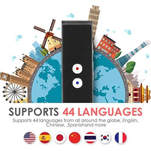 Vapeart Smart Instant Language Translator Device Portable Foreign Language Real-Time 2-Way Translations [Support Up to 44 Languages/Voice Operated] Compatible iPhone Android Smartphone (Black) Photo #7