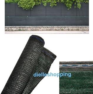 Malla de sombreo, 90% de ocultación, 4 x 10 m, tela verde