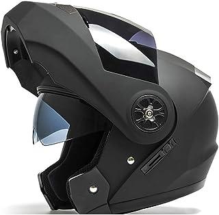 システムヘルメット フルフェイスヘルメット ダブルシールド 男女兼用 バイク ABS強度材質 オープンフィエス ゴーグル スクーター 通気 オールシーズン 防風 耐衝撃性 フリップアップ マットブラック・スモークシールド