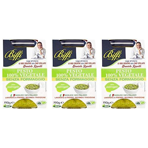 Biffi - Pesto 100% Vegetale, Senza Formaggio 190g - Multipack (3x190g)