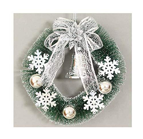 YWXKA kerstslinger, kunststof, om op te hangen, garland, ideaal voor thuis, party, open haard 11,8 inch, C