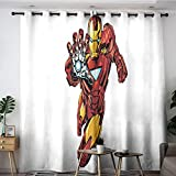 Elliot Dorothy Iron Man The Avengers Superhero Washable Curtains Customized Chid Curtains Blackout Window Curtain for Boys Girls Room W42 x L72