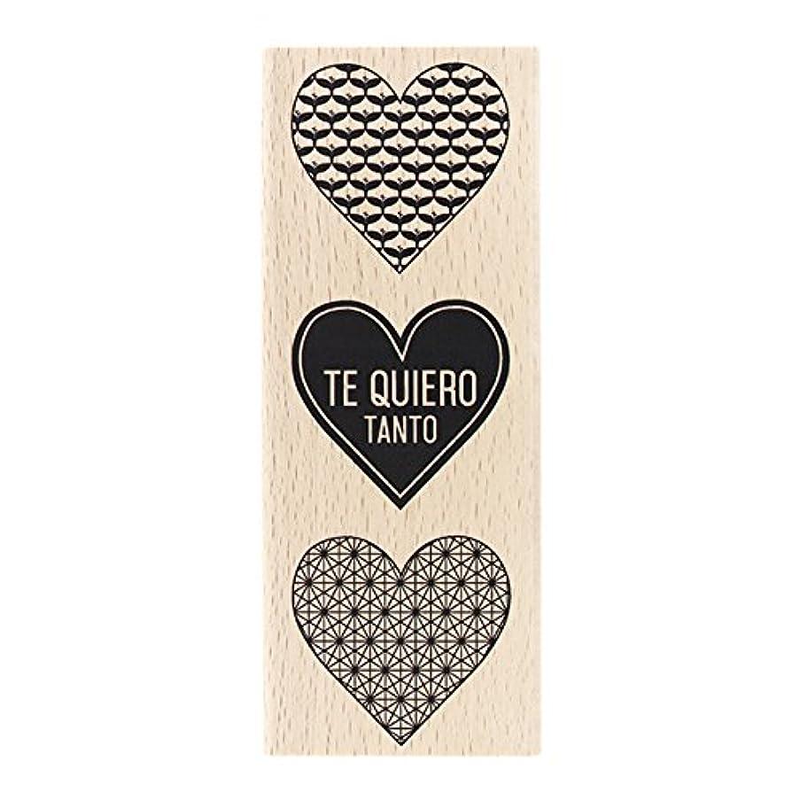 Florilèges Design Stamp Spanish Te Quiero Tanto, Wood, Natural, 15?x 6?x 2.5?cm