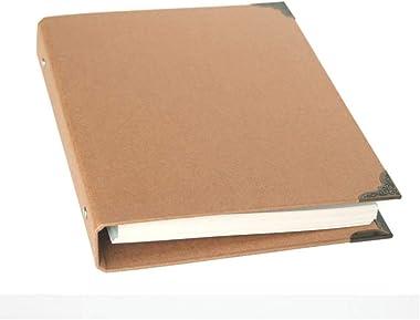 Xu Yuan Jia-Shop Album Photo Album Bricolage Manuel Album Photo Papier Kraft rétro à Feuilles Mobiles Manuel créatif Cadeaux