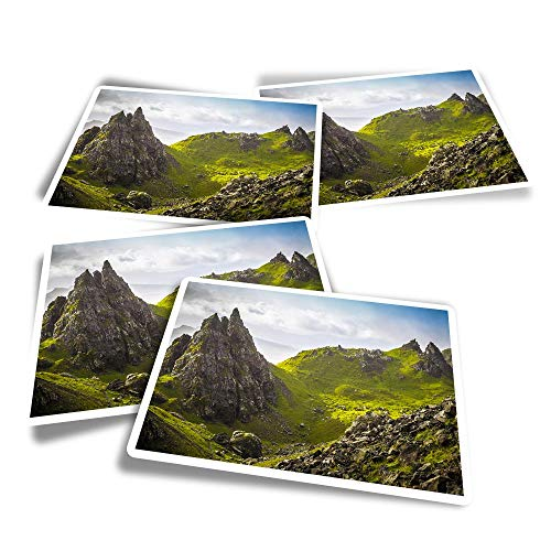 Vinyl Rectangle Stickers (Set of 4) - Isle of Skye Scotland Landscape Fun Decals for Laptops,Tablets,Luggage,Scrap Booking,Fridges #45413