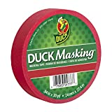 """Duck Masking 240818 Red Color Masking Tape.94"""" by 30 yd"""