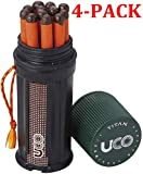 UCO Titan Stormproof Match Kit with Waterproof Case, Replacement Strikers and 12 Matches (Kit, 4-Pack)