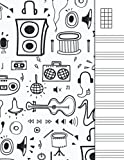 Ukulele Tab Notebook: Blank Staff Manuscript Paper Large Chord Sheet with Chords Reference for Ukulele Players, Students and Teachers | 8x11'