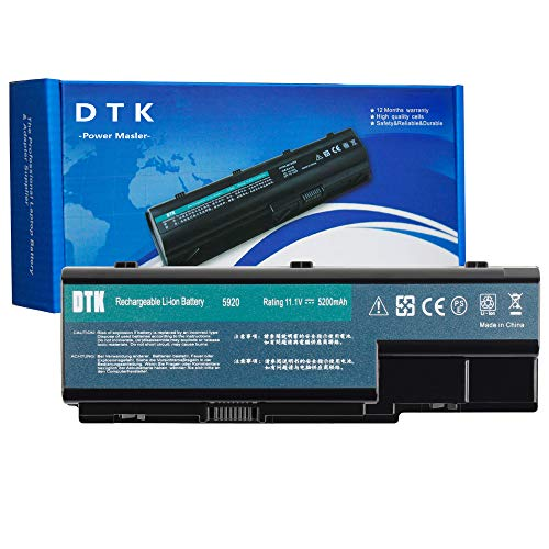 DTK Laptop Battery for Acer Aspire 7720 7720g 7540 7520 8930G 5220 5230 5235 5300 5310 5315 5920 AS07B51 AS07B41 AS07b32 AS07B31 AS07B72 AS07B42 AS07B52 AS07B61 AS07B71 Notebook[11.1V 5200mAh]