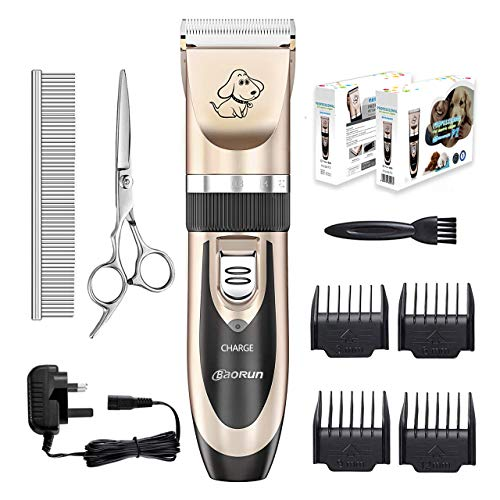Dog clippers, Everesta Low Noise Rechargeable Cordless Pet Dogs and Cats...