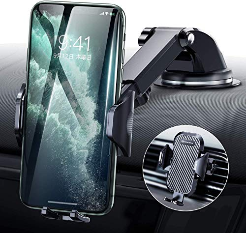 Handyhalter fürs Auto Handyhalterung Lüftung & Saugnapf Halterung 3 in 1 Universale KFZ Handyhalterung Smartphone Halterung für iPhone SE 2020/11/Samsung S20/ S10/ Note10/ HUAWEI Xiaomi LG usw