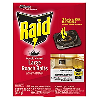 Raid Double Control, Large Roach Baits, 8 CT (Pack - 1)
