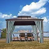 Pavillonvorhänge im Freien, Veranda oder Gartenpatio Pavillon Sonnenschutz Blackout Wärmeisolierte Vorhänge (B, 1 Panel 53 '* 63')