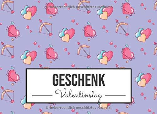 Geschenk Valentinstag: Gutscheinheft mit 25 vorgedruckten und 25 blanko Gutscheinen für Sie und Ihn zu Valentinstag