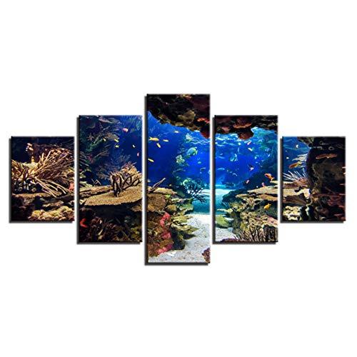 5D DIY pintura de diamante grande del mundo subacuático Kits de pintura de diamante completo taladro hogar decoración de arte de la pared 17.7 x 37.4 pulgadas (mundo subacuático)