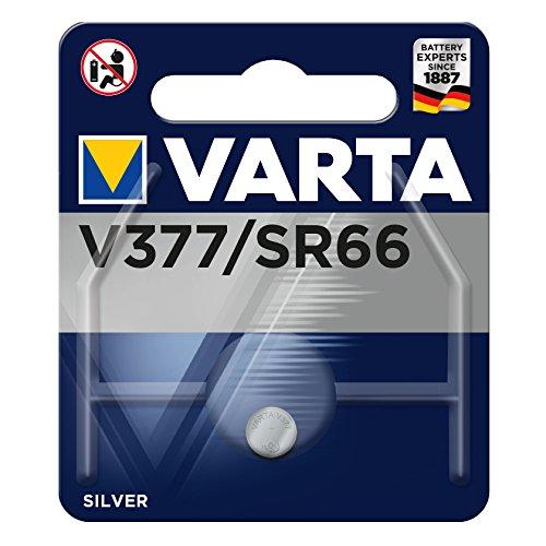 Varta Batterie Knopfzellen, IEC-Code SR66, 1,55 V/27 mAh, Chem. System Silberoxid